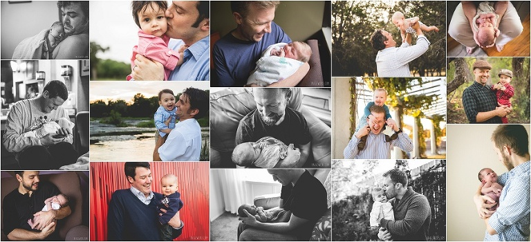 portrait collage father + child