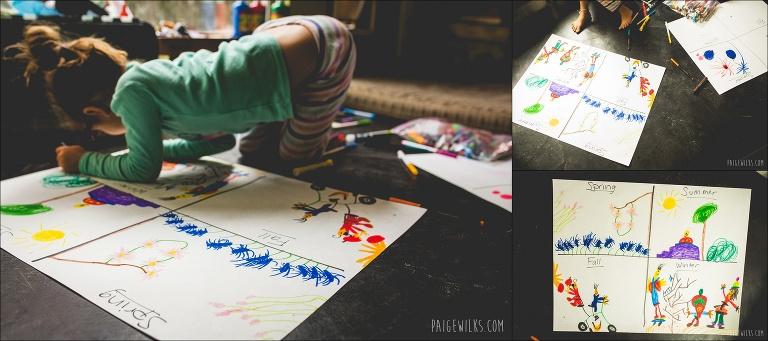 kindergarden four seasons art science craft