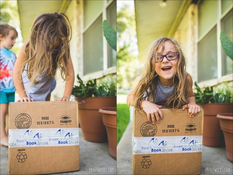 package delivery homeschool supplies bookshark