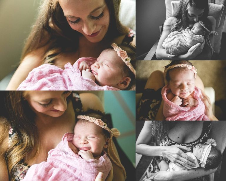 mother newborn portrait austin