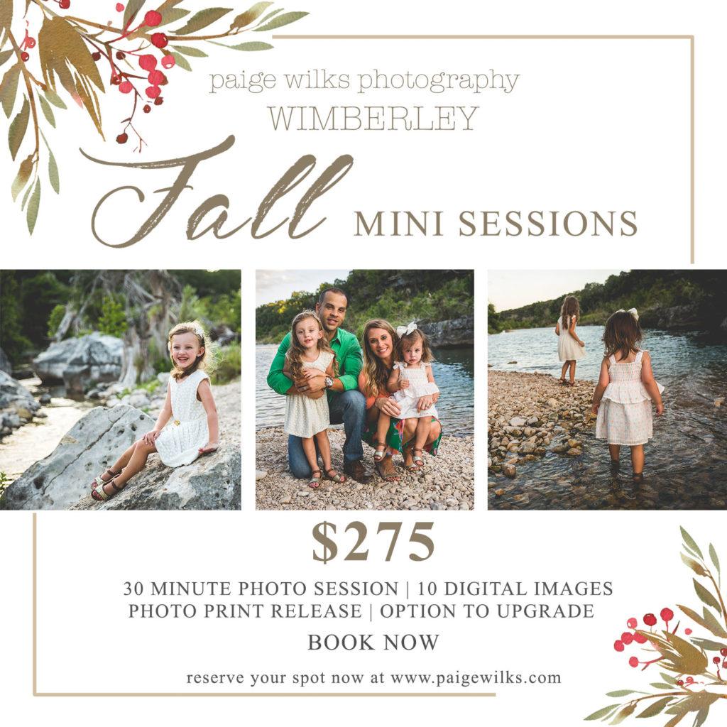 wimberley mini fall session, holiday mini session